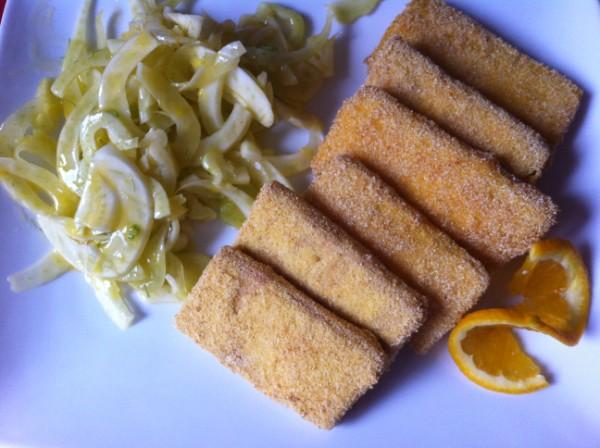 Cotoletta di tofu con insalata di finocchi