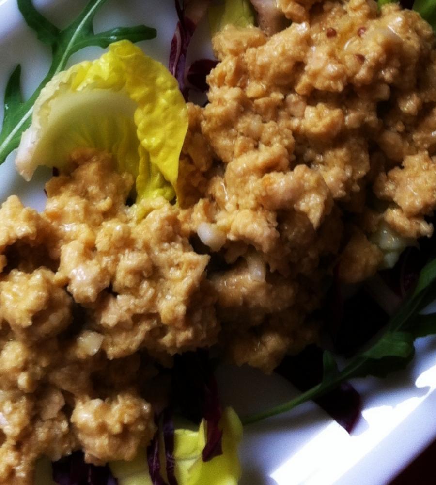 Tempeh marinato alla senape