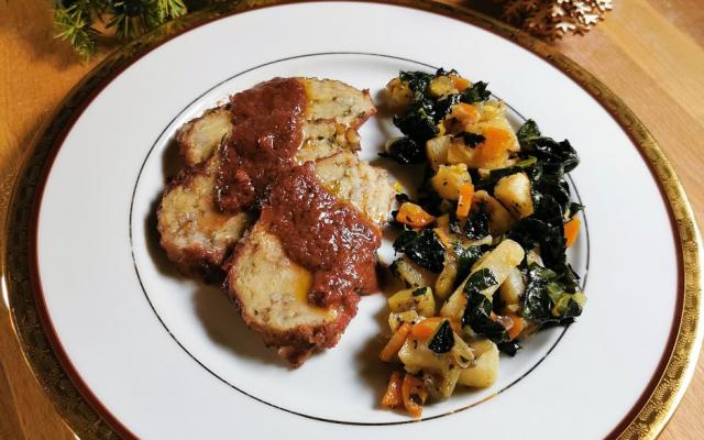 Rollè vegetale con salsa al ginepro