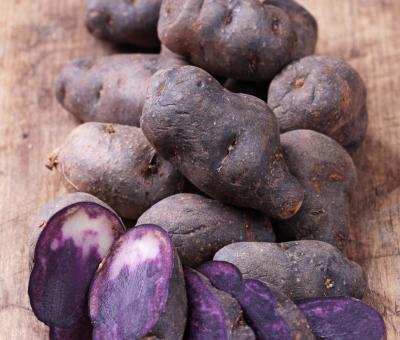 Colori bianco e viola di frutta e verdura