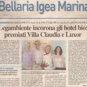 it:18 maggio 2017 Premio Legambiente 2017In occasione della BIT 2017 (la Borsa Italiana del Turismo), tenutasi a Milano, siamo stati premiati da Legambiente per l'alimentazione sana e la qualità enogastronomica.